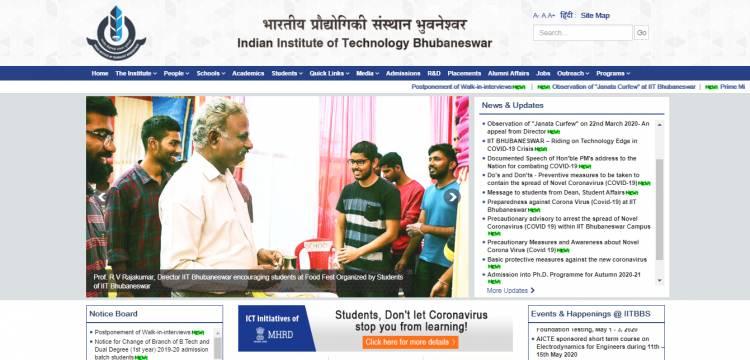 IIT Bhubaneswar starts online classes during Corona Virus outbreak